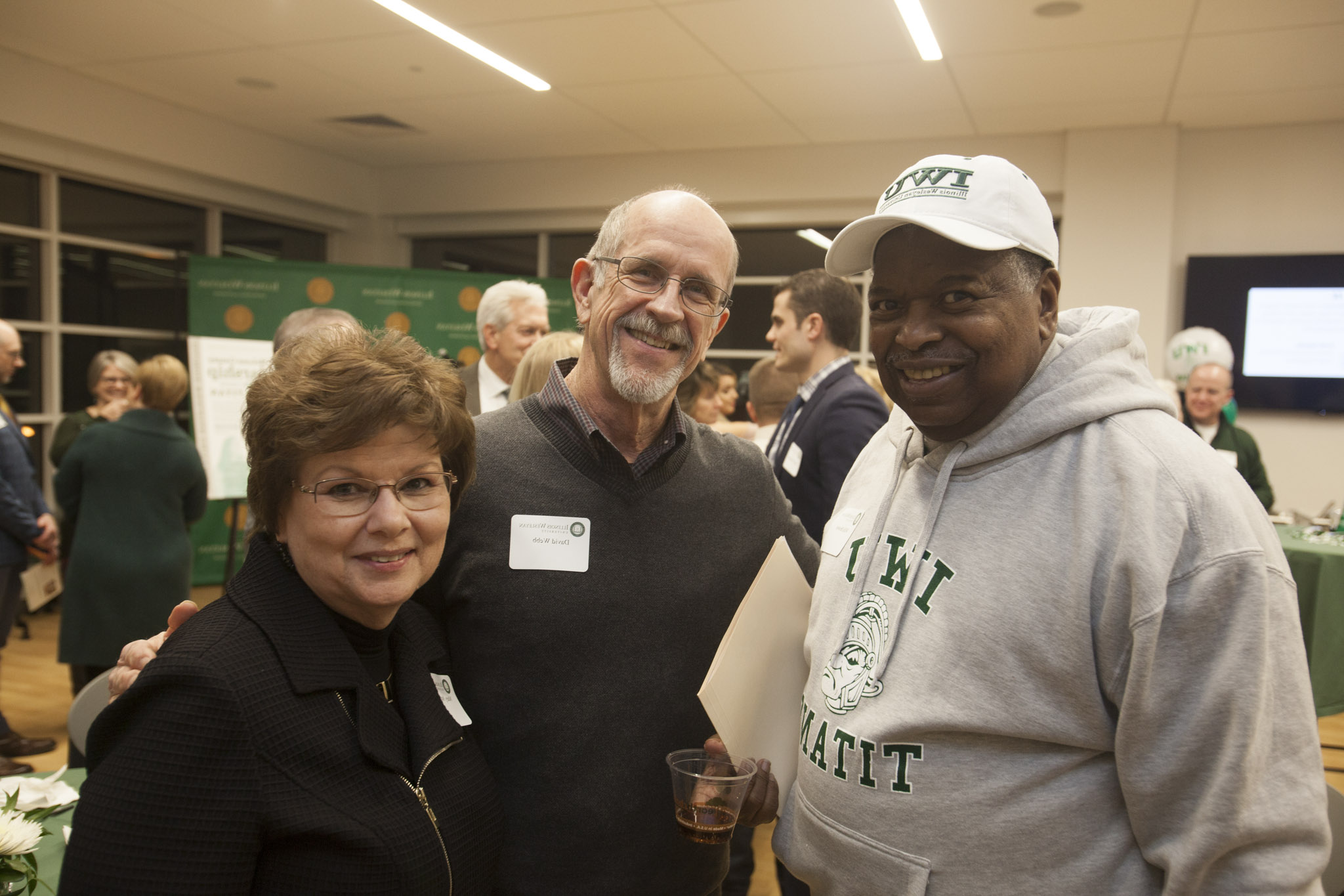 Willie Brown with David and Mary Ann Webb