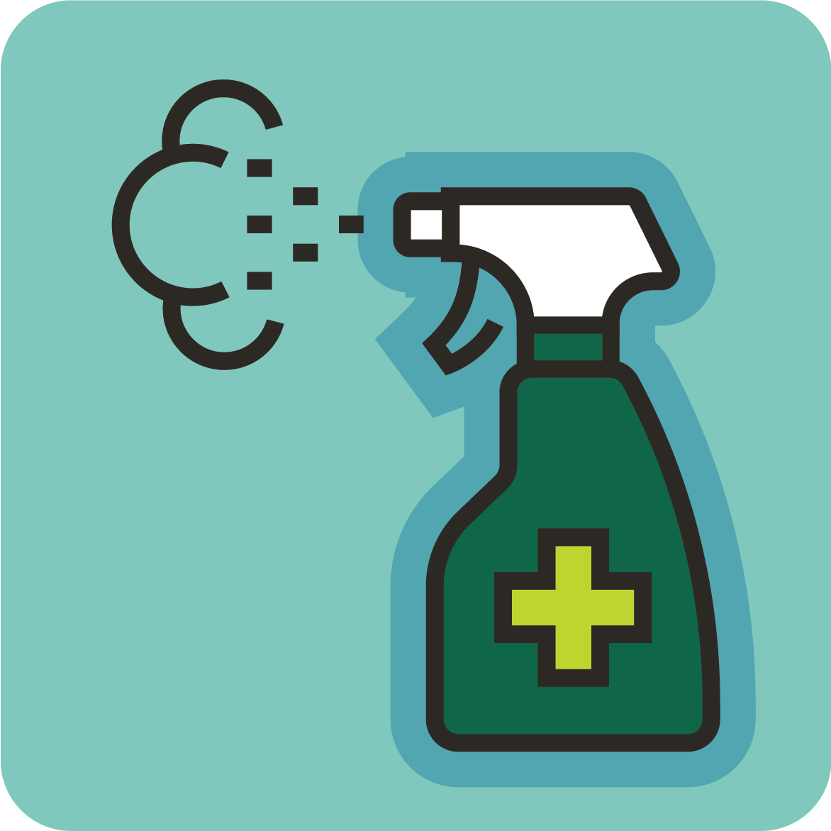 Cleaner icon - sanitize and clean